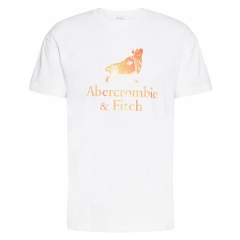 Abercrombie & Fitch Tričko  biela / marhuľová