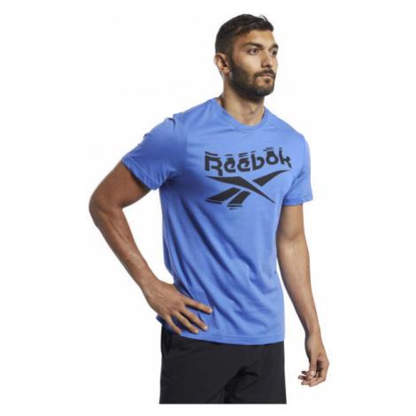 Reebok GS BRANDED CREW TEE modrá - Pánske tričko