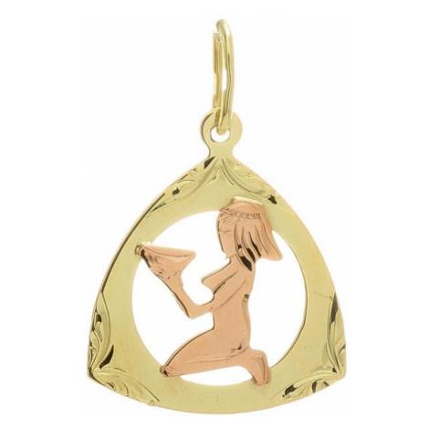 Prívesok znamenie panna z kombinovaného zlata