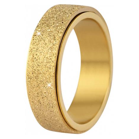 Troli Oceľový snubný prsteň zlatý / trblietavý mm
