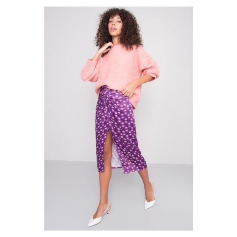 BSL Purple midi skirt