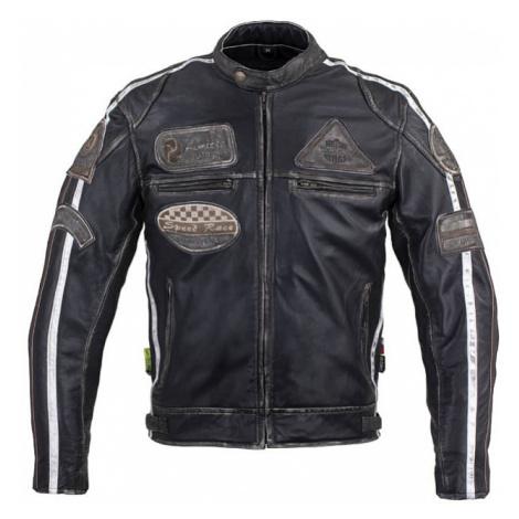 Pánska kožená moto bunda W-TEC Sheawen Vintage Farba čierna