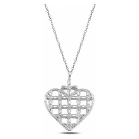 OLIVIE Strieborný náhrdelník SRDCE 3698