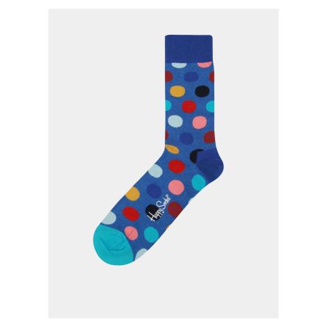 Modré unisex bodkované ponožky Happy Socks Big Dot