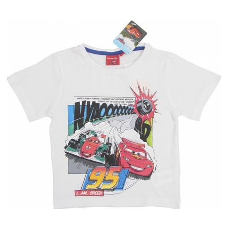 Cars biele chlapčenské tričko Disney