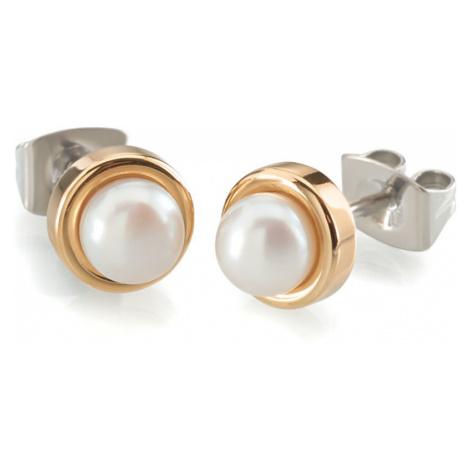 Boccia Titanium Pozlátené titánové náušnice s perlou 0594-02