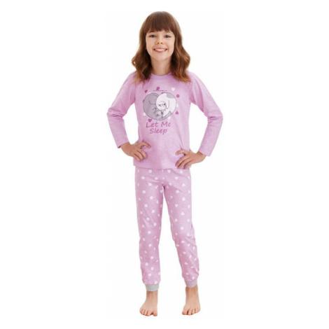 Dievčenské pyžamo Elza fialové mačky Taro