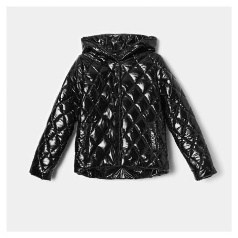 Mohito - Prešívaná bunda s kapucňou - Čierna