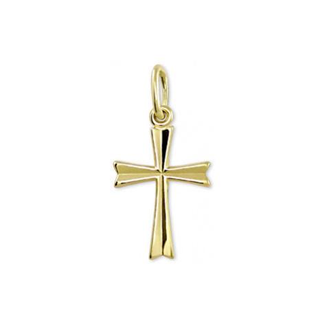 Brilio Zlatý prívesok Krížik 001 10