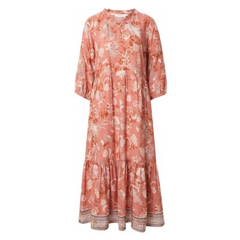 Cream Šaty 'Johui'  svetločervená / karamelová / béžová