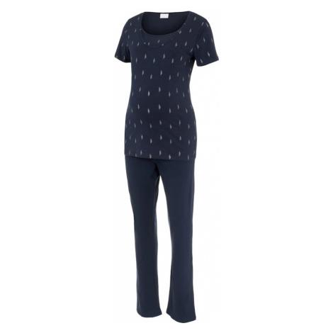 MAMALICIOUS Pyžamo 'Bea Nell'  námornícka modrá / biela Mama Licious