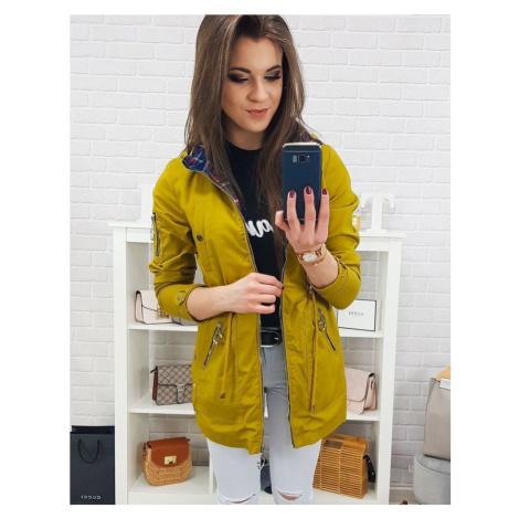 Trendová dámska parka - žltá ty0653