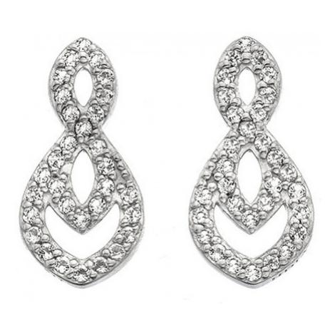 Hot Diamonds Trblietavé náušnice s pravým diamantom Lily DE609