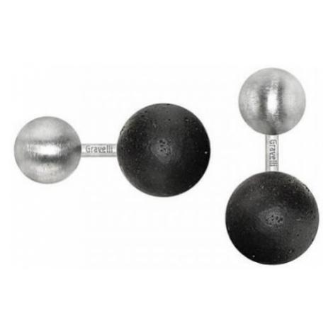 Gravelli Manžetové gombíky z betónu a ocele Beads GJCMSSA001UN
