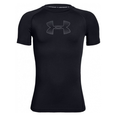 Under Armour HEATGEAR SHORT SLEEVE čierna - Chlapčenské tričko