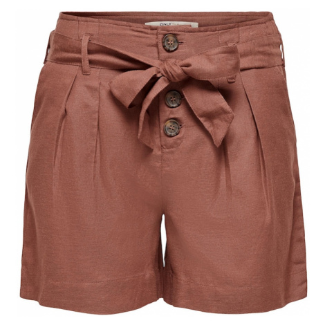 ONLY Plisované nohavice 'Viva'  pastelovo červená