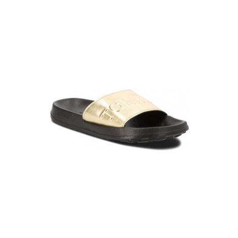 Tommy Jeans Šľapky Tj Metallic Pool Slide EN0EN00227 Zlatá Tommy Hilfiger