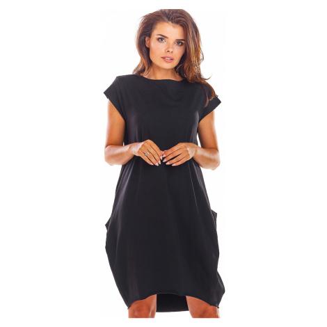 Čierne šaty Infinite M206 Infinite You