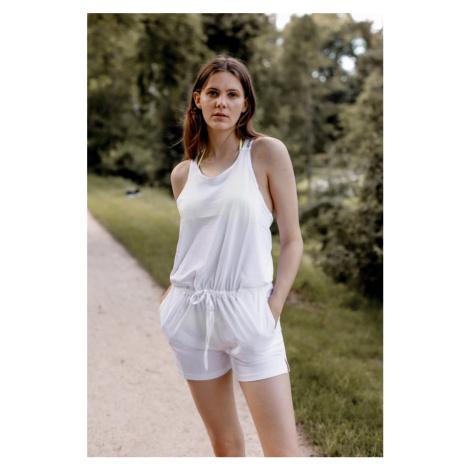 Calvin Klein romper s logo ramienkami - biela