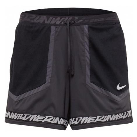 NIKE Športové nohavice 'Flex Stride Wild Run'  tmavosivá / čierna / biela