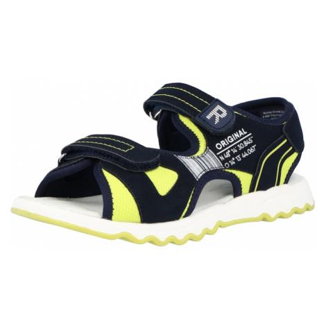 RICHTER Otvorená obuv  modrá / neónovo žltá / biela