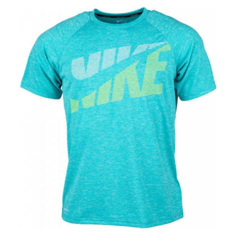 Nike HEATHER TILT modrá - Pánske tričko do vody