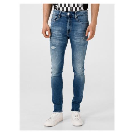 016 Jeans Calvin Klein Modrá