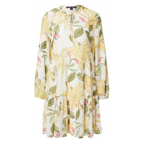 COMMA Košeľové šaty  biela / zelená
