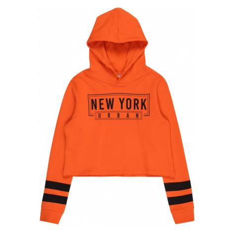 NAME IT Mikina 'VIALA'  oranžovo červená / čierna