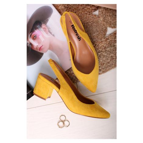 Žlté lodičky 69538 Refresh