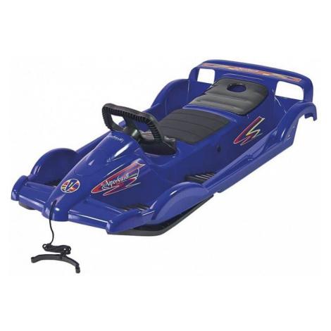 Bob plastový AlpenDoubleRace s volantem, modrý AlpenGaudi