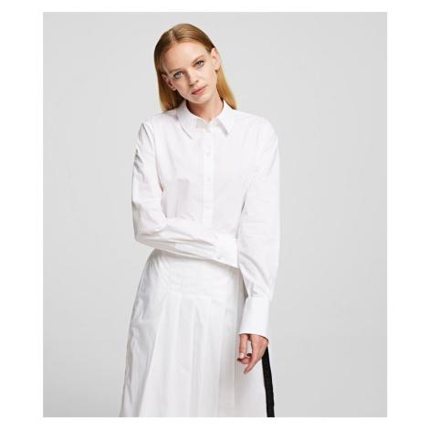 Šaty Karl Lagerfeld Poplin Shirt Dress W/ Pleats