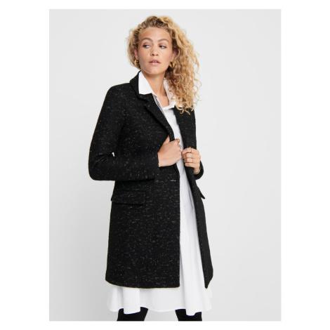 Čierny vlnený kabát ONLY New