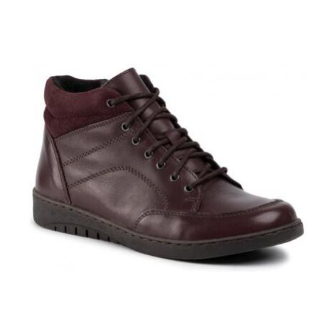 Šnurovacia obuv GO SOFT WI20-KOMETA-01 Prírodná koža(useň) - Zamš