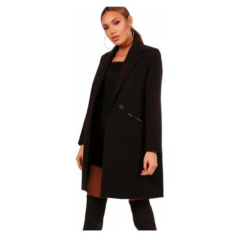 SARAH Čierny kabát so zipsami Boohoo