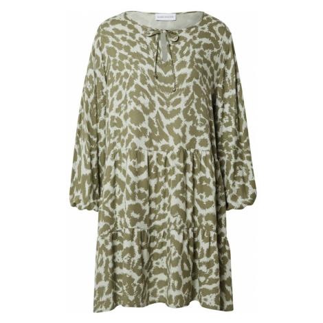 Karo Kauer Košeľové šaty 'Lexi'  kaki / pastelovo zelená