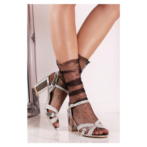 Strieborné sandále Tiffany Sergio Todzi