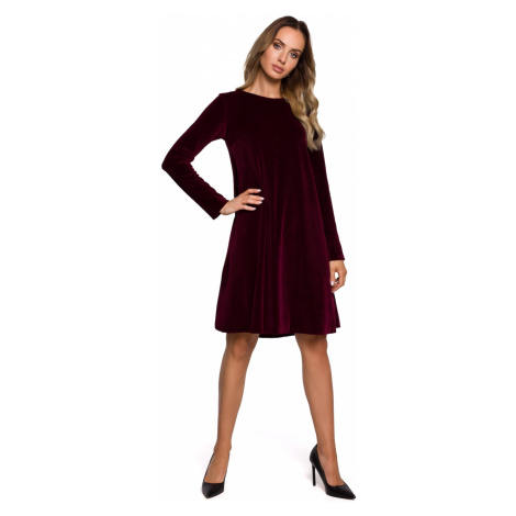 Made Of Emotion Woman's Dress M566 Maroon
