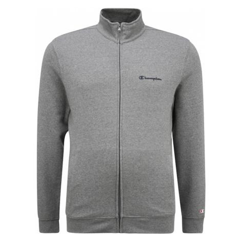 Champion Authentic Athletic Apparel Tepláková bunda  sivá melírovaná / tmavomodrá