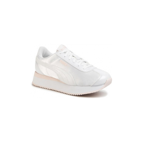 Puma Sneakersy Turino Stacked Glitter 371944 02 Biela