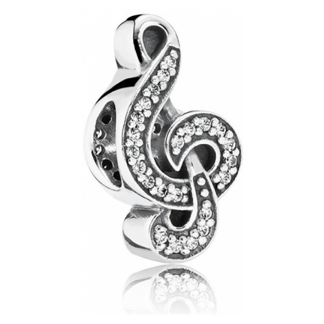 Pandora Strieborný korálik Husľový kľúč 791381CZ