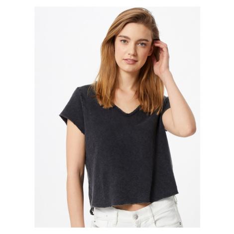 AMERICAN VINTAGE Tričko 'Sonoma'  čierna melírovaná