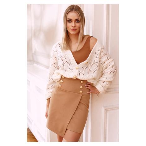 Béžová mini sukňa M662 Makadamia