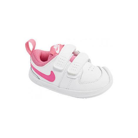Biele detské tenisky na suchý zips Nike Pico