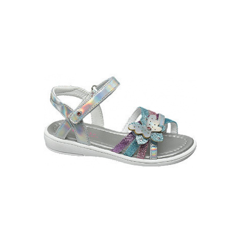 Strieborné sandále na suchý zips Cupcake Couture