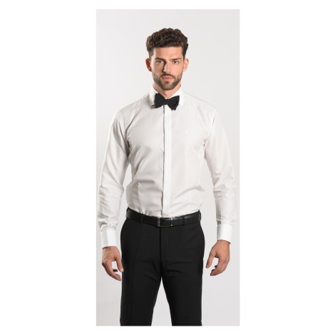 Spoločenská Extra Slim Fit košeľa farby champagne Alain Delon