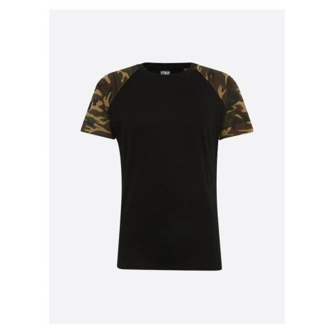 Urban Classics Tričko  čierna / svetlohnedá / zelená / kaki
