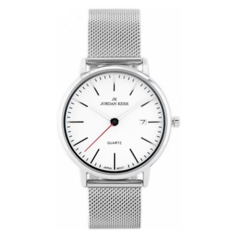 Pánske hodinky striebornej farby Jordan Kerr I2004-A