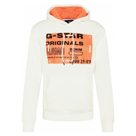 G-Star RAW Mikina  oranžová / biela