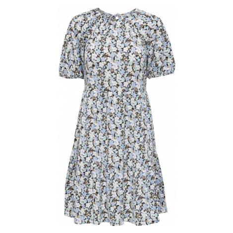 ONLY Letné šaty 'Pella'  čierna / levanduľová / biela / kaki